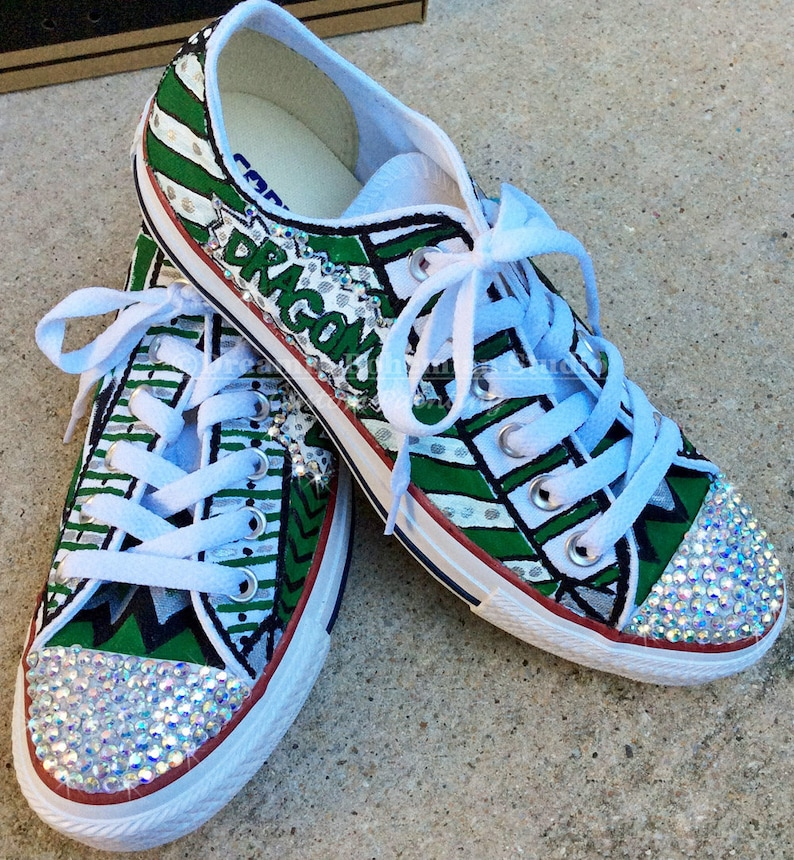 2c8b3e319a2d96 Custom Converse Shoes Women Converse Low Top Painted Gym