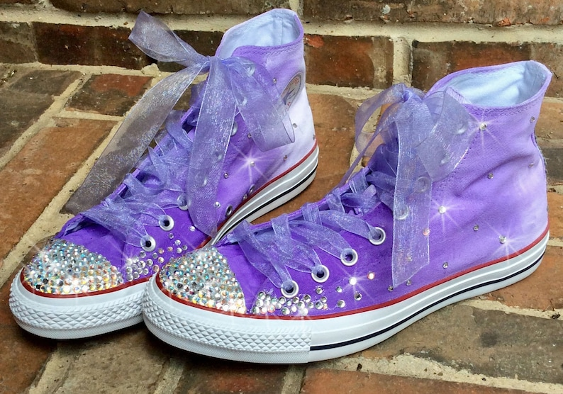 24295b243a5e Custom Sneakers Toddler size with ribbon laces HandPainted