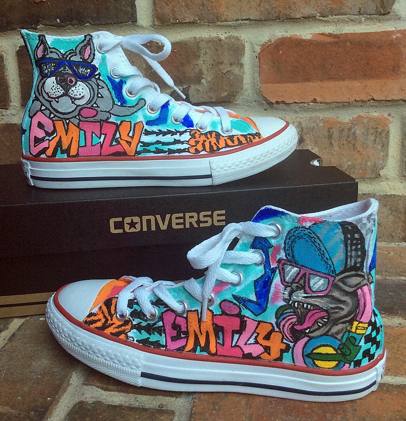 Custom Converse Handpainted Shoes Graffiti Art Painted  3079676e3