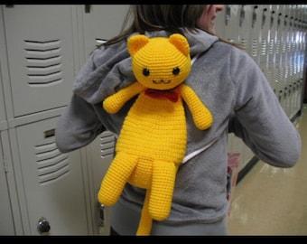 Mini Kitty Backpack Crochet Pattern