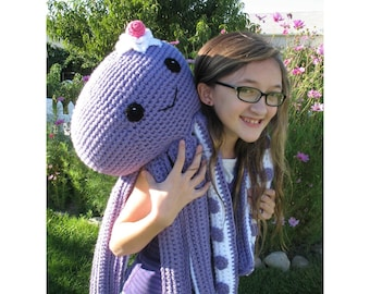 Octopus Novelty Pillow PDF Pattern--FREE pattern for mini octopus included