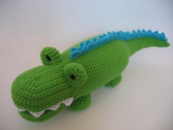 Crocheted Alligator Pdf Pattern Etsy