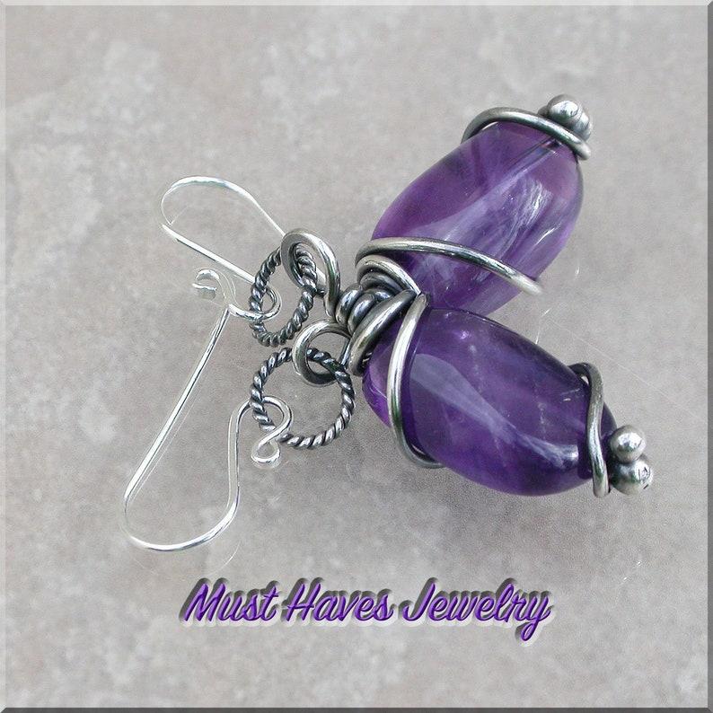 Rich purple Amethyst Earrings image 0