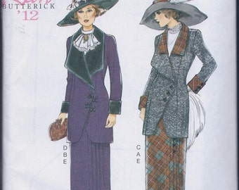 Butterick 6108 Misses Women's 1912 Edwardian Suit Jacket Skirt UNCUT Sewing Pattern