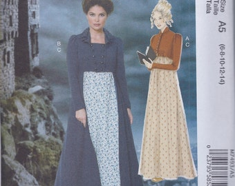 McCalls 7493 Misses Women's Regency Jane Austen Dress Spencer Jacket UNCUT Sewing Pattern