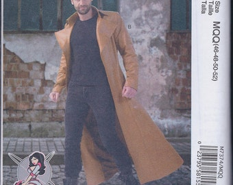 McCall's 7374 Mens Steampunk X-Men Cos Play Costume Long Coat UNCUT Sewing Pattern