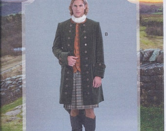 McCall's 7762 Mens 18th Century Outlander Cos Play Coat UNCUT Sewing Pattern