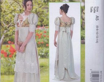 McCalls 7420 Misses Women's Regency Jane Austen Dress UNCUT Sewing Pattern