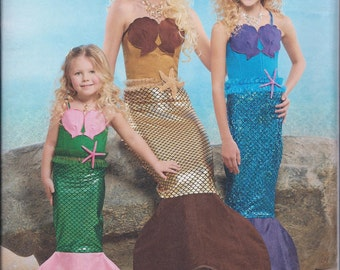 Simplicity 8198 Childs Girls Misses Mermaid Costume UNCUT Sewing Pattern c9092e8f3
