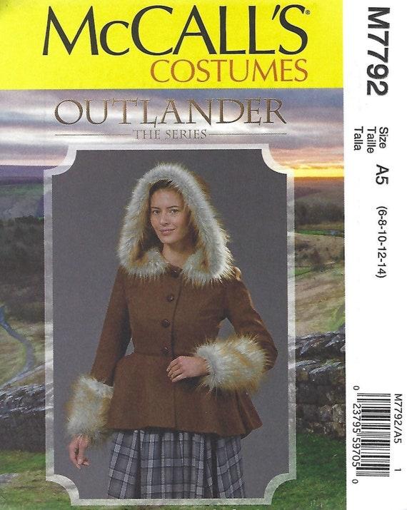 M7940 Sewing Pattern Costume Boned Lined Peplum Jacket Chemise OUTLANDER Series