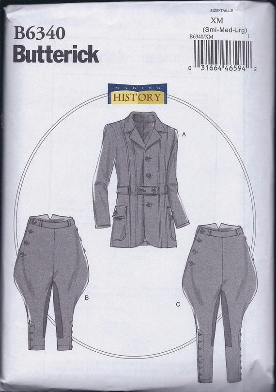 Butterick 6340 Männer Edwardian Sportler Anzug Reiten Hose | Etsy
