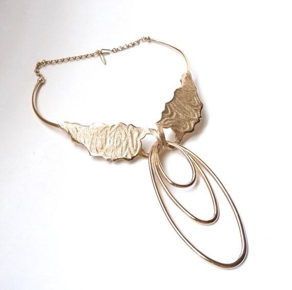 1970s Statement Necklace Gold Boucher