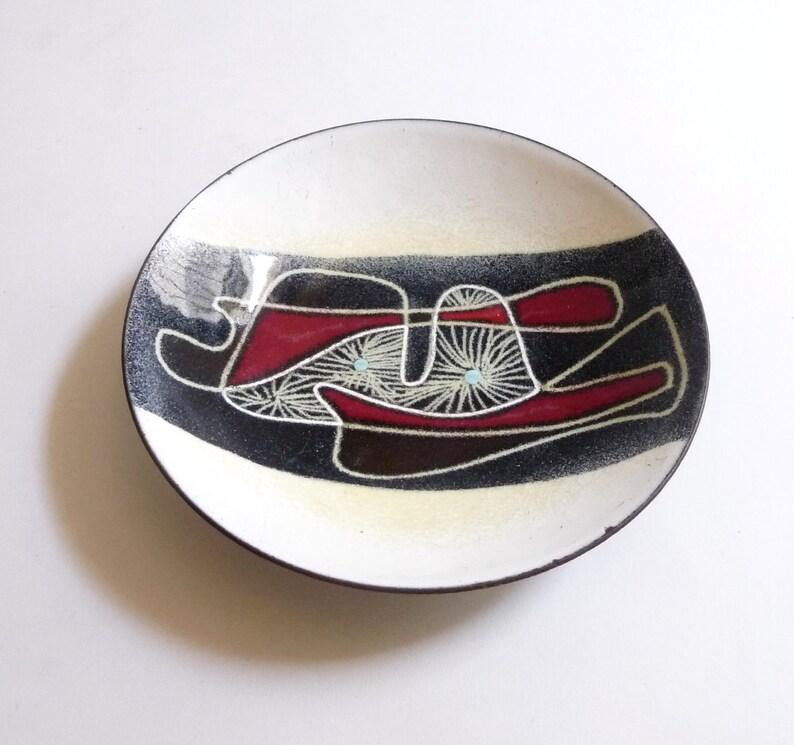 1950s Ellamarie and Jackson Woolley Enamel Bowl image 0