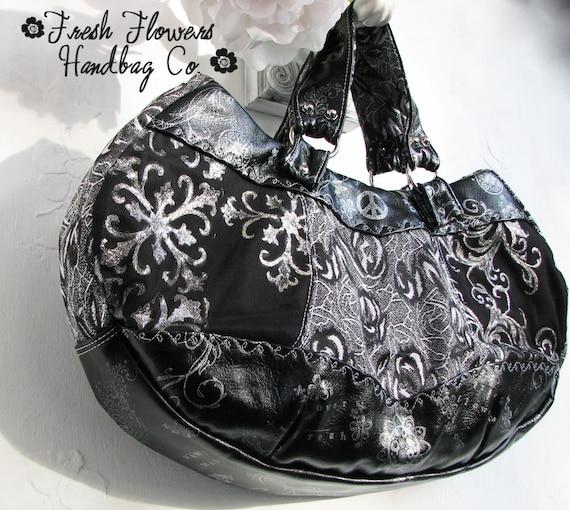 eaeef7a40042 Handmade Satchel Vegan Materials Peace Graffiti Bags and Purses For Her  Boho Style Chic Black Artisan Bag Women's Purse Women's Satchel