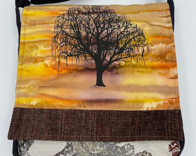 "Tree Messenger Bag 12"" Willow Sunset"