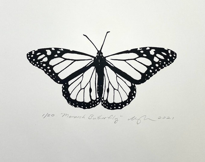Monarch Butterfly Print 11 x 14