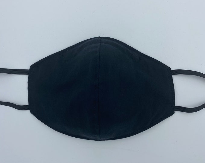 Large Fabric Mask Solid Black