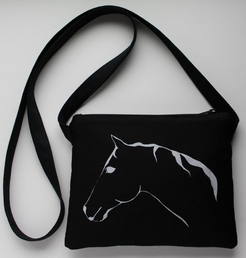 Horse Passport Bag Black