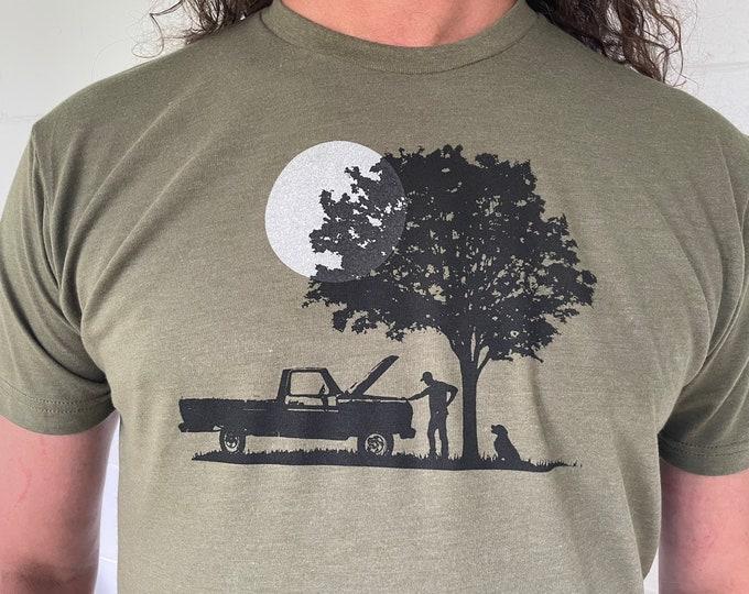 Shade Tree Mechanic Tshirt White Moon