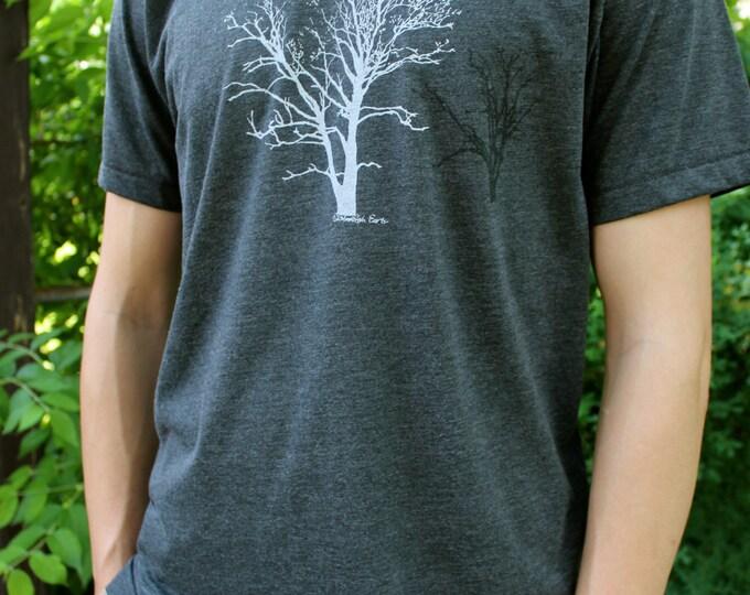 Crew Neck Sycamore Tree Tshirt Heather Gray