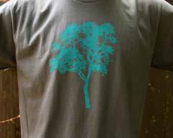 Crew Neck Elm Tree Tshirt Gray