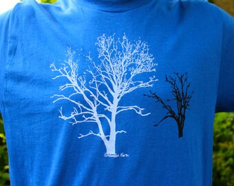 Crew Neck Sycamore Tree Tshirt Royal Blue