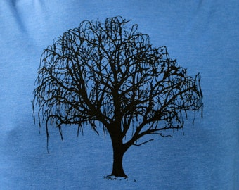 Crew Neck Willow Tree Tshirt Royal Blue