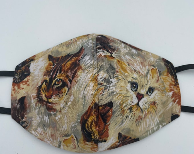 Fabric Mask Cats Reversible to Black