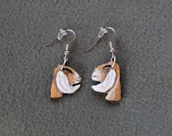 Bone Sculpted Nubian Earrings-Hand Painted, Sculpted,Handmade,Recycled