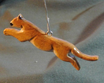 Mountain Lion Home Decor Hanger-Handmade, Sculpted, Hand Painted, Recycled