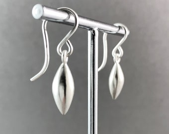 sterling silver drop seed earrings french wire