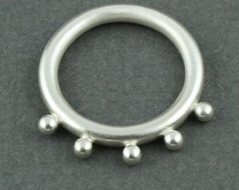 polka dot ring in sterling silver