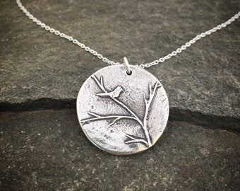 Winter Bird Necklace
