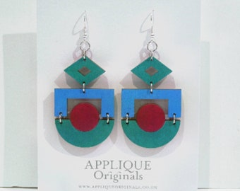 Hand painted Orient statement earrings - birthday gift - summer finds - eco fashion - sustainable jewellery - sustainable fashion