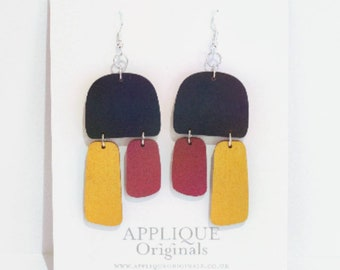 Hand painted statement sustainable earrings - birthday gift - summer finds - eco fashion - sustainable jewellery - sustainable fashion
