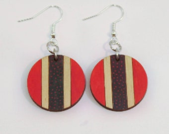 Limited edition, hand painted statement earrings - birthday gift - summer finds - eco fashion - sustainable jewellery - sustainable fashion