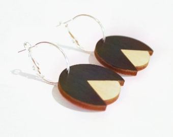 Hand painted bud hoop earrings - birthday gift - summer finds - eco fashion - sustainable jewellery - sustainable fashion