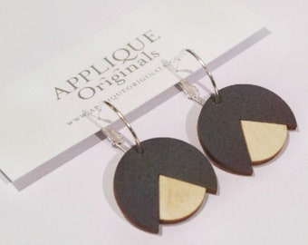 Hand painted butld hoop earrings - birthday gift - summer finds - eco fashion - sustainable jewellery - sustainable fashion