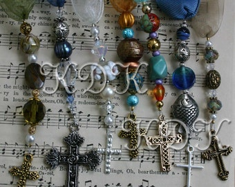Tutorial for Beaded Bookmarks with Ribbons Beads Charms