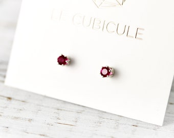 birthstone studs - classic silver or gold earrings - bridesmaids gift