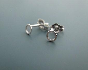 Mini - sterling silver earrings