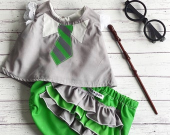Magic School Uniform - Costume - Shirt and Diaper Cover
