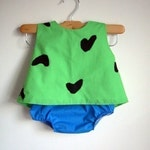 Pebbles Costume - baby - toddler - girl - Halloween Top and Bottom - raegun