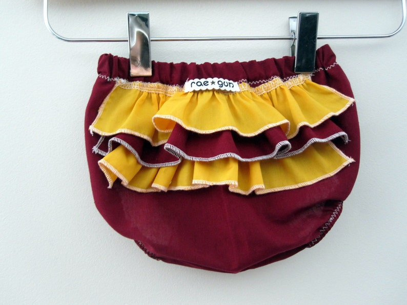 School Colors  Ruffle diaper covers  Baby   Girl  Bloomers image 0