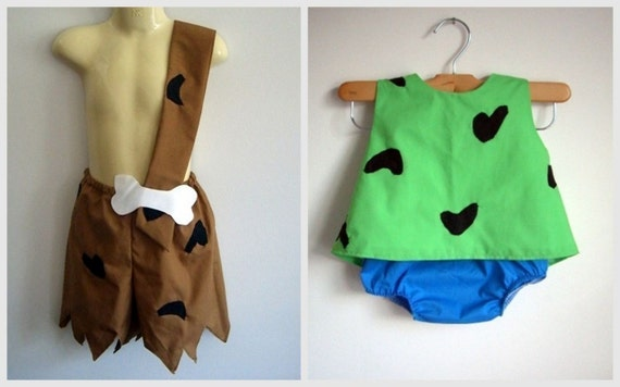 & Pebbles and Bam Bam Costumes girl boy clothing | Etsy