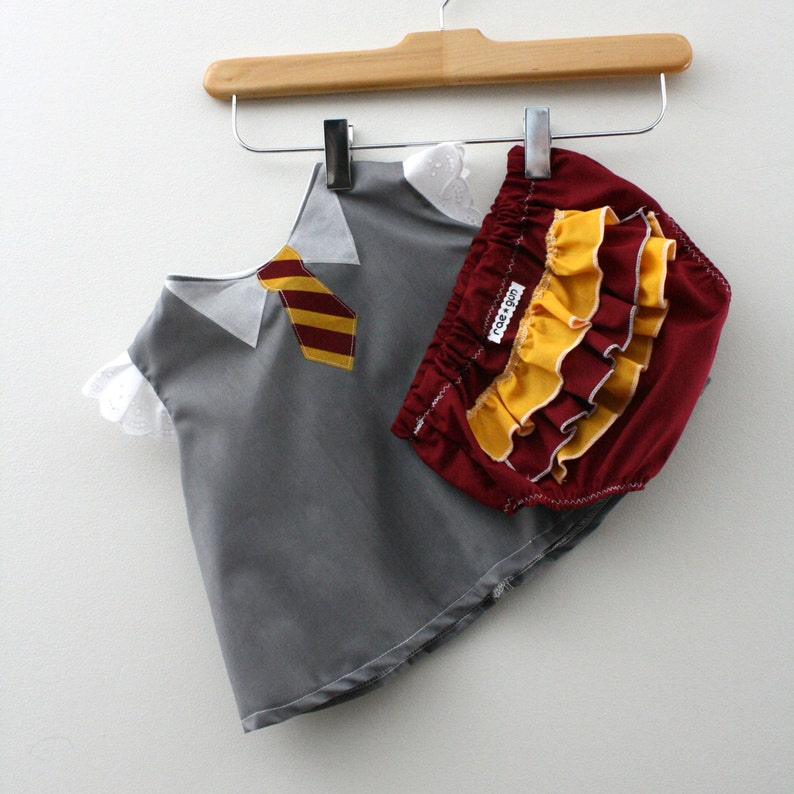 Wizard Student Costume  Shirt and Diaper Cover image 0