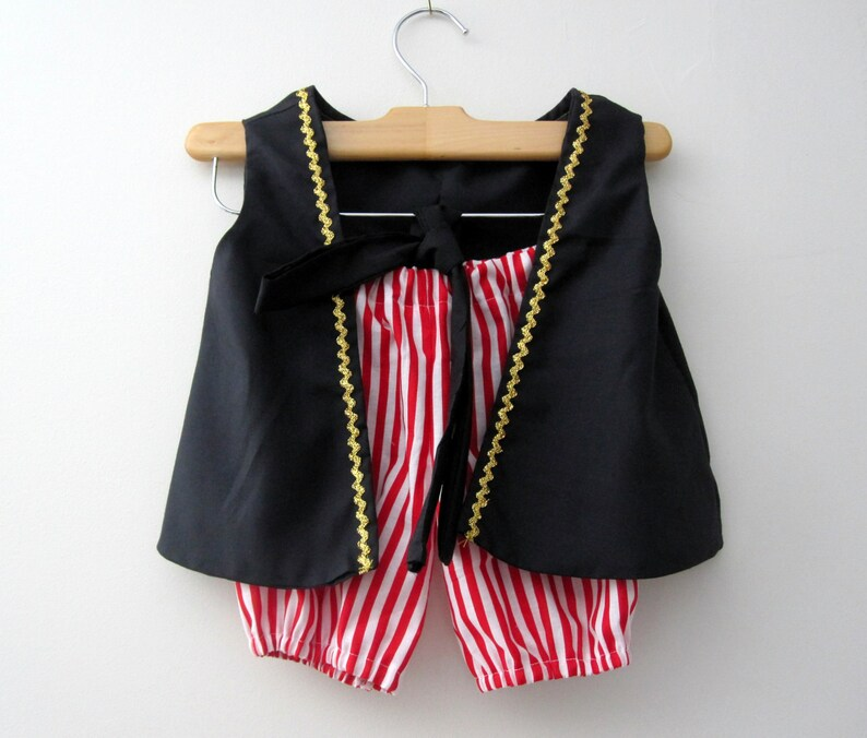 Pirate Boy Vest Knickers and Sash red and white knickers pick image 0