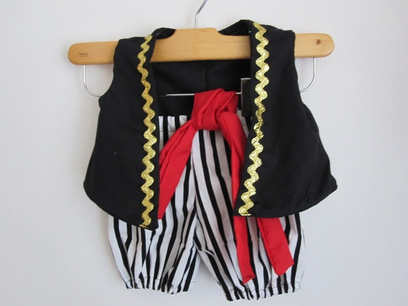 RUSH Pirate Boy Costume Vest Knickers and Sash image 0