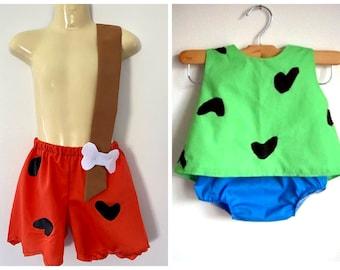 Pebbles and Bam Bam Costumes - girl - boy - clothing - Halloween