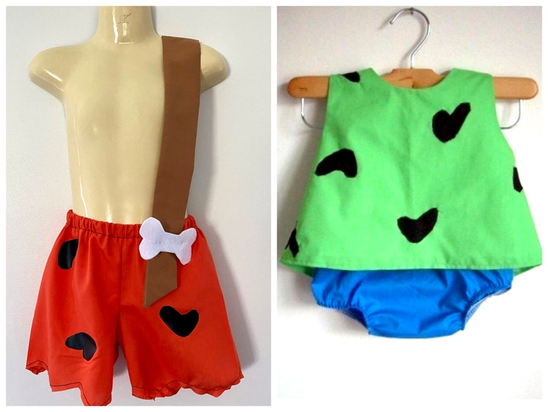 Pebbles and Bam Bam Costumes  girl  boy  clothing  image 0